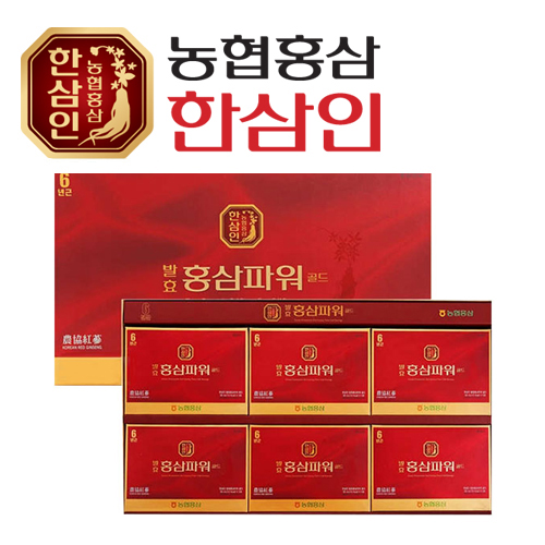[농협 한삼인] 발효홍삼파워골드 50ml x 30포 + 쇼핑백