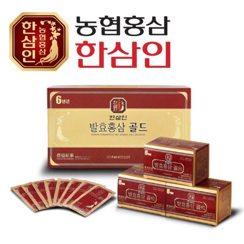 [농협 한삼인] 발효홍삼골드 20ml x 15포 + 쇼핑백