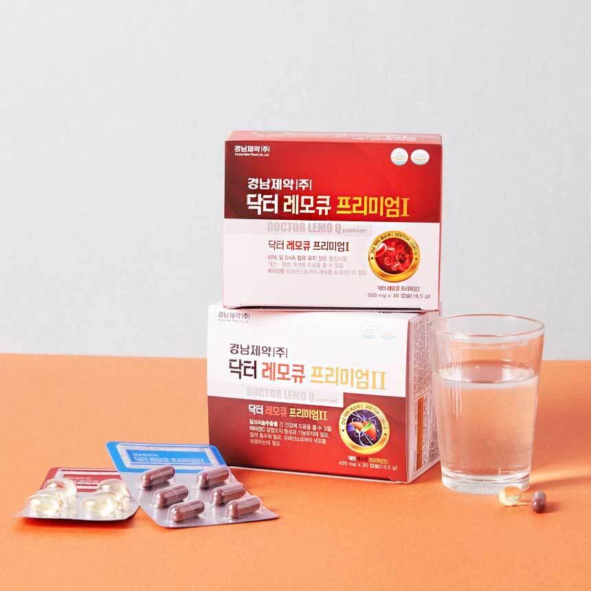 [경남제약] 닥터레모큐프리미엄 550mg X 30캡슐 + 450mg X 30캡슐