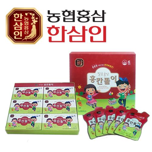 [농협 한삼인] 발효홍삼 홍칸똘이 20ml x 30포 + 쇼핑백