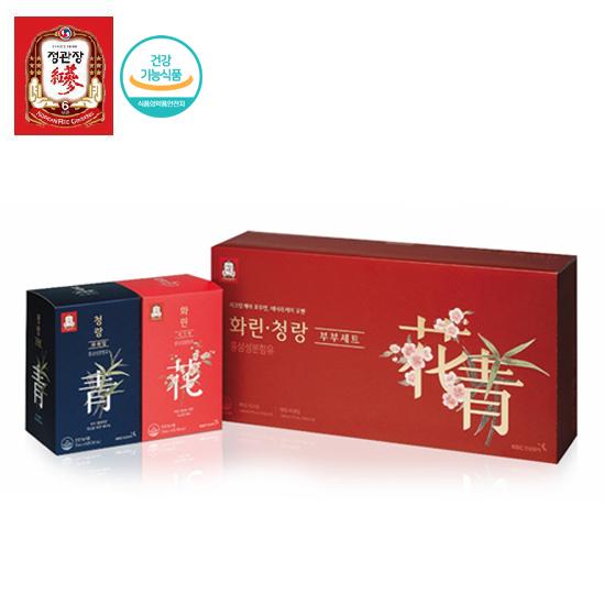 한국인삼공사 정관장 화린·청랑부부세트 70ml x 40포 + 쇼핑백