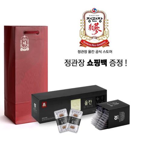 한국인삼공사 정관장 블랙 올칸 650mg x 120정 + 쇼핑백
