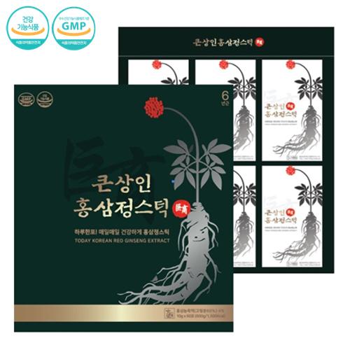 채원몰,큰상인 홍삼정스틱 10g x 60포 + 쇼핑백