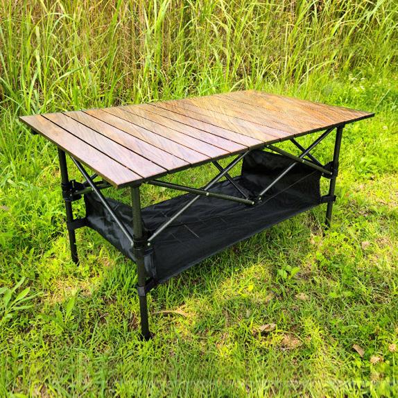 [아이젠베르그] 캠핑용 접이식 우드 블랙 테이블