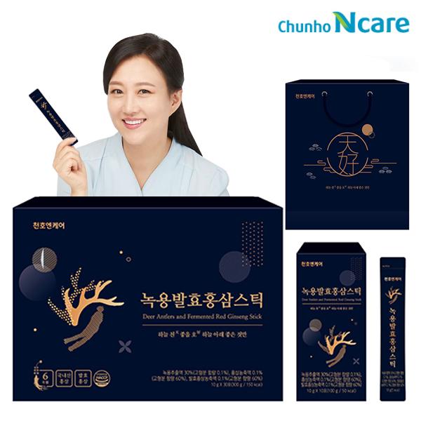 천호엔케어 녹용발효홍삼스틱 10g x 30포 + 쇼핑백