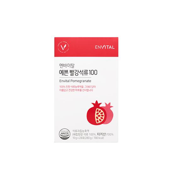 엔바이탈 예쁜 빨강석류100 (1개월분/28포)